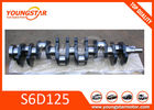 China Forged Steel vehicle crankshaft For KOMATSU S6D125  6151-31-1110 factory