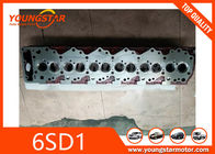China Casting Iron Engine Cylinder Head For Excavator Parts Isuzu 6SD1 12V / 6CYL company