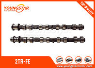 China TOYOTA  2TR - FE Engine Camshaft 13501 - 75060 (IN) / 13502 - 75060(EX) factory