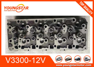 China Casting Iron Material Complete Cylinder Head Assy For Kubota V3300 12V Forklift factory
